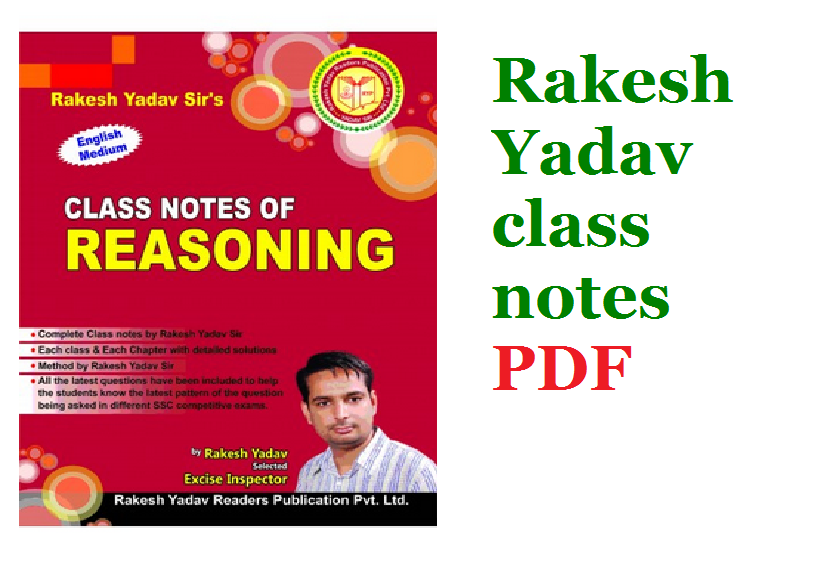 Rakesh Yadav Reasoning Book PDF Download here | Rakesh Yadav