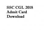ssc cgl 2018 Admit card ssckhabar