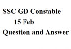 SSC GD Constable 15 Feb Paper Analysis