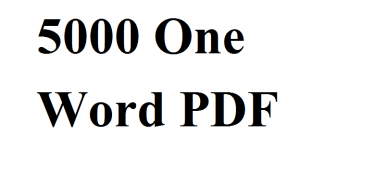 5000 One Word PDF