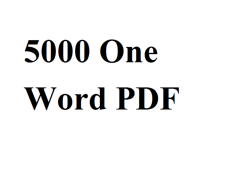 5000 One Word Substitution PDF Download -