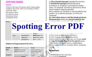SSC CGL Spotting Error PDF