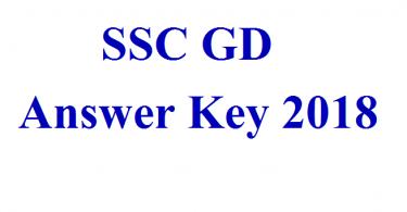 ssc gd answer key 2018