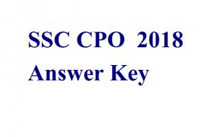 SSC CPO 2018 answer key