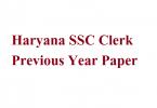 Haryana SSC Clerk Previous Year Paper