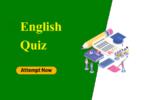 SSC English quiz