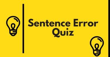 ssc Sentence Error quiz